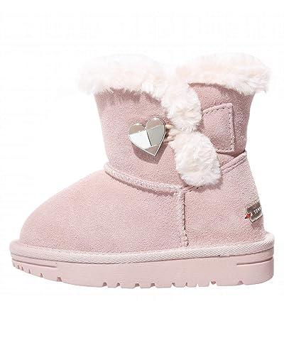 389d2074ed Tommy Hilfiger Kinder Boots Winter Schuhe für Mädchen, Farbe:Pink, Größe:EUR