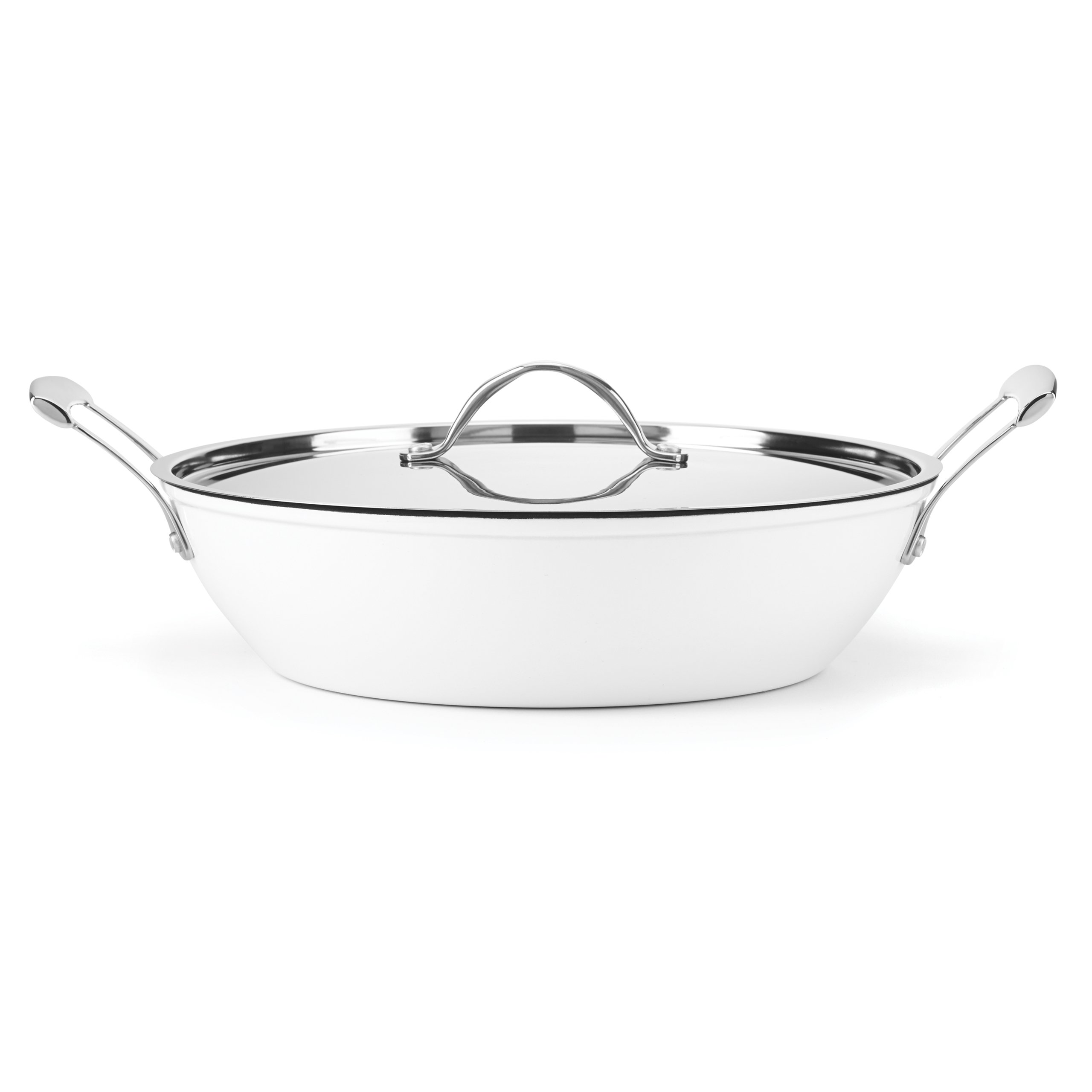 Food & Wine For Gorham Light Cast Iron 4 Quart Braiser, White
