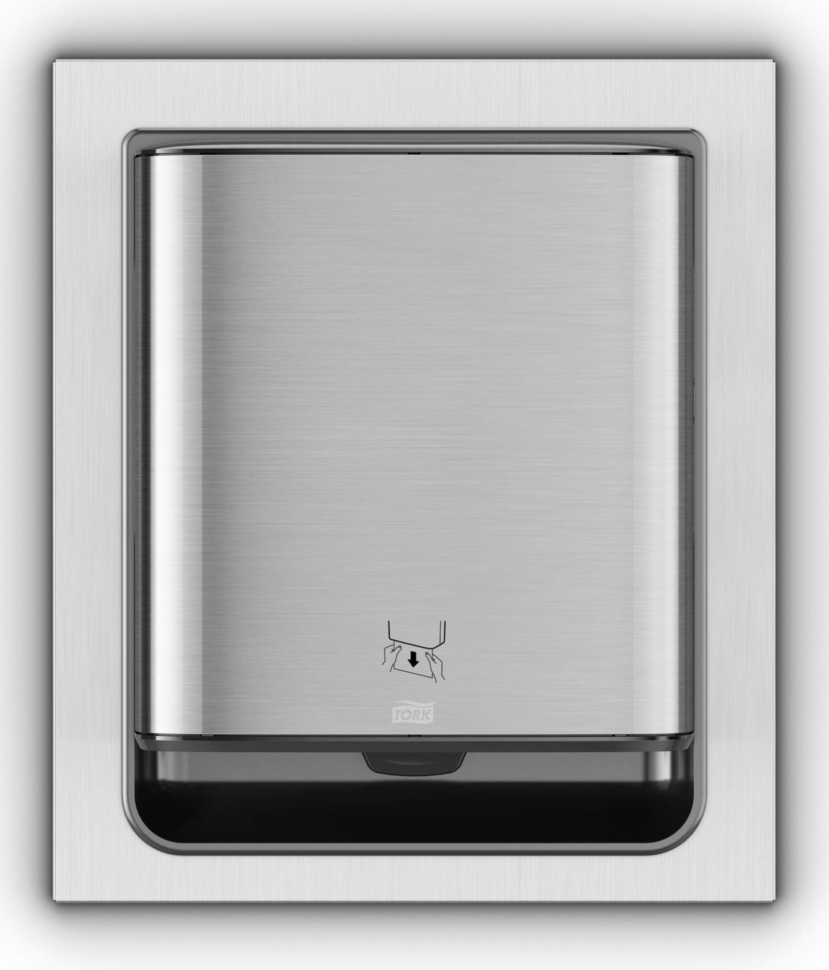 Tork 461023 Image Design Matic Paper Hand Towel Roll Dispenser, in-Wall Recessed, 20.55'' Height x 17.64'' Width x 7.87'' Depth, Stainless Steel (Case of 1 Dispenser)