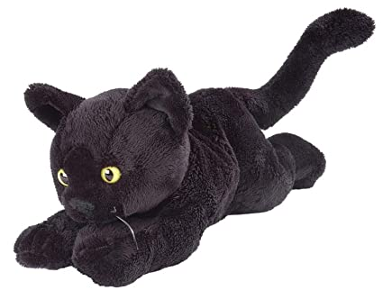 "Wild Republic Floppy Black Shorthair Black Cat 7"" ..."