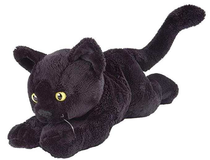 Amazon.com: Wild Republic Floppy Black Shorthair Black Cat 7