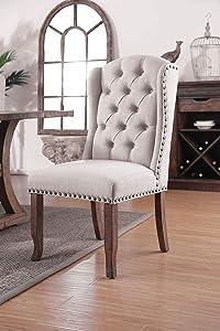 Furniture of America Gianna Arm Chair, Rustic Pine