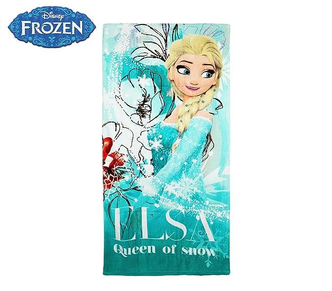 WD16937 Toalla de playa de la princesa Elsa de Frozen 140x70 cm 100% algodón: Amazon.es: Ropa y accesorios