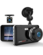 $49 » AUTOSOCT Dual Dash Cam 4.0 Inch LCD Screen 1080P FHD Front and Rear Camera, Car Driving Recorder with IR Sensor Night Vision, Motion Detection, G-Sensor, 170°Wide Angle and Parking Monitor