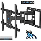 Mounting Dream Full motion TV Wall Mount Bracket for 42-70 Inch LED, LCD and OLED Flat Screen TV, Mount Bracket, up to VESA 600 x 400mm and 100 LBS Loading, MD2296 (2018 Upgraded Version)