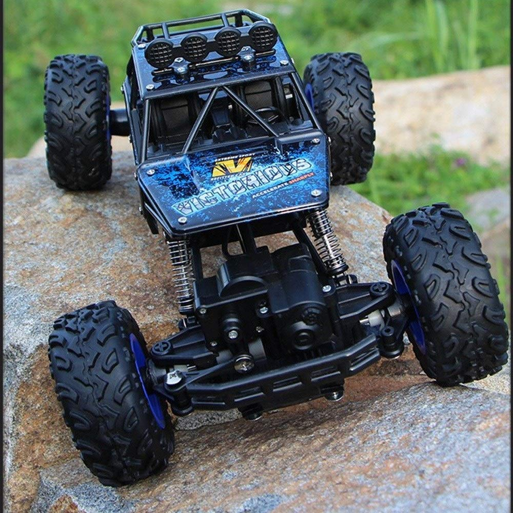 TBFEI 1/12 4WD Rock Crawlers RC Car 4x4 Driving Car Double Motors Drive Big Foot Car Remote Control Car Model Off-Road Vehicle Educational Toy for Kids Age 4+ (Color : Blue) by TBFEI (Image #1)