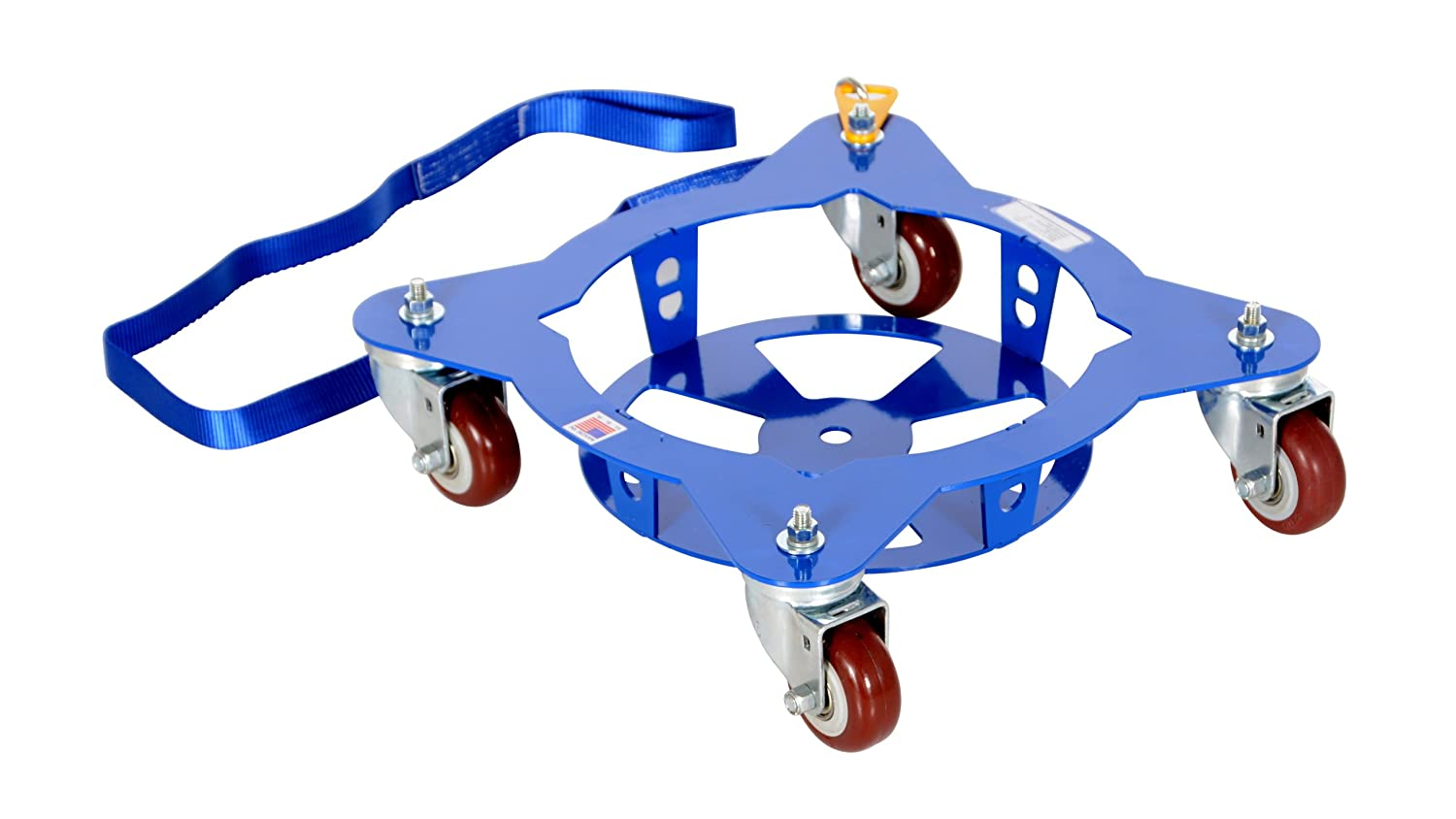19-7//16 Width x 5 Height Vestil MPD-5 Multi Pail Dolly with 4 Pull Strap 150 lbs Capacity