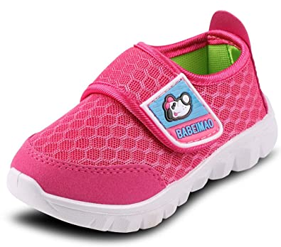 DADAWEN Baby's Boy's Girl's Mesh Light Weight Sneakers Running Shoe Rose  Red US Size ...