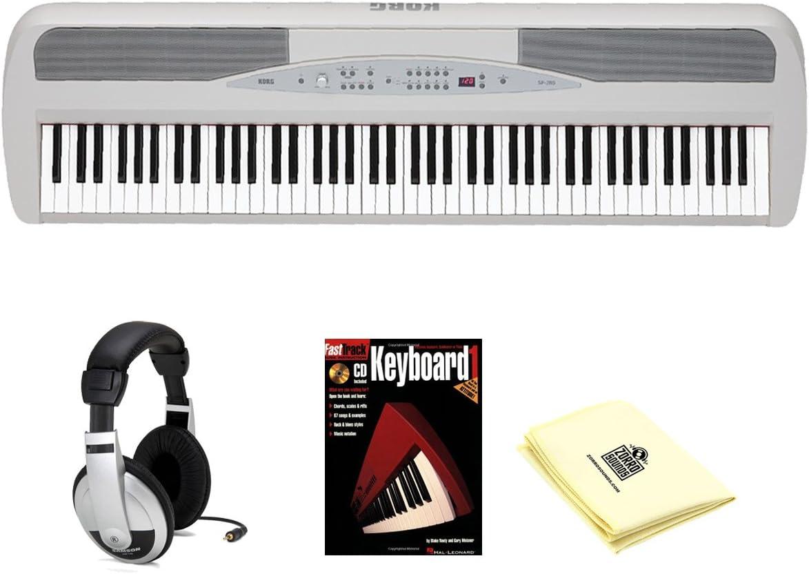 Korg sp280wh 88 clave Piano Digital con soporte y pedal ...