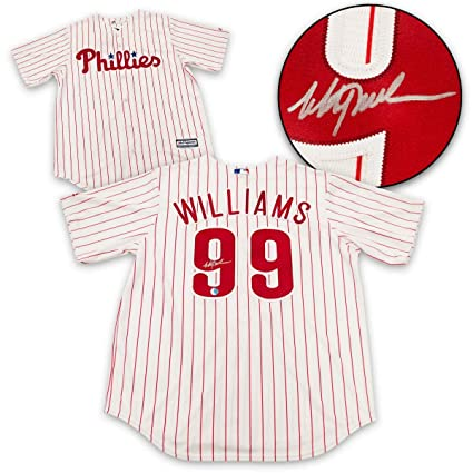 sports shoes 3c319 887f5 Mitch Williams Philadelphia Phillies Autographed Replcia ...