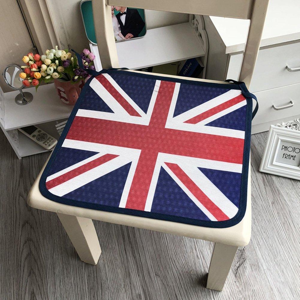 1個クリエイティブイギリス国旗パターン夏クール椅子シートクッションパッドの寮オフィス椅子カーシートソファホーム旅行のシン/厚み40 x 40 cm 40*40 cm B07C7QZYYS
