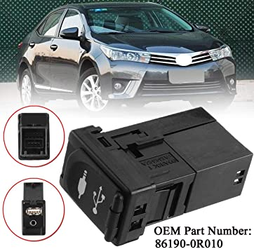 Aupoko 86190-0R010 AUX USB Port Adapter Fits for Toyota Corolla ...