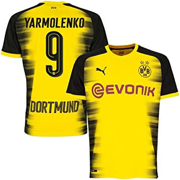 Borussia Dortmund camiseta de Liga de Campeones yarmolenko 9 2017 2018  (oficial de impresión) 0655aab844519