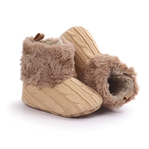 Sibba Womens Knitted Slipper Boots Indoor Outdoor Warm Snow Bootie