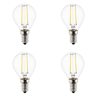 sebson LED Lampe E14 3W (2.5W), ersetzt 25W Glühlampe, warmweiß, 200lm, Filament Tropfen, 160°, 4er Pack