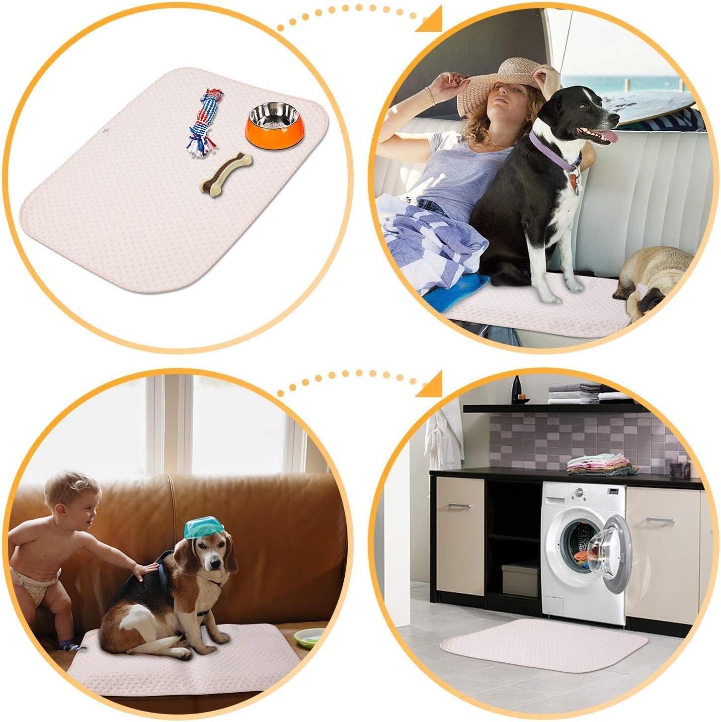 Yangbaga Trainingsunterlagen f/ür Hunde Waschbare Welpenunterlage Trainingspads f/ür die Sauberkeitserziehung Trainingsmatten Welpe