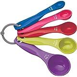 Kitchencraft Medidores Cuchara, Plástico, Multicolor, 11 x 2cm, 5 Unidades