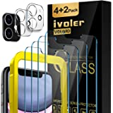 [6 Pack] iVoler [4 Pack] Tempered Screen Protector + [2 Pack] Camera Lens Protector Tempered Glass for Iphone 11/iphone XR wi
