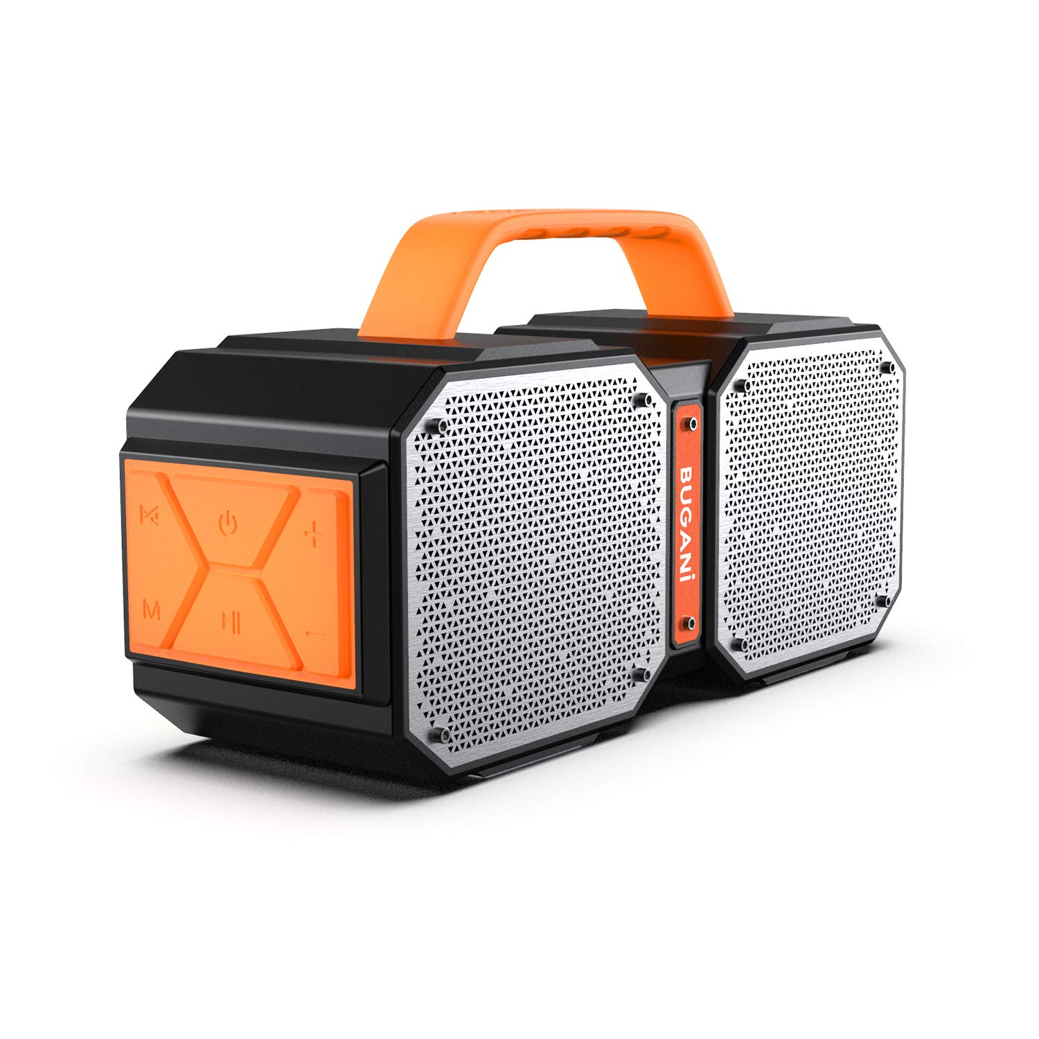 Bluetooth Speakers. Waterproof Outdoor Speakers Bluetooth 5.0 .40W Wireless Stereo Pairing Booming Bass Speaker. 2400 Minutes Playtime with Charge your phone. Durable for Home Party. Camping(Black) by BUGANI