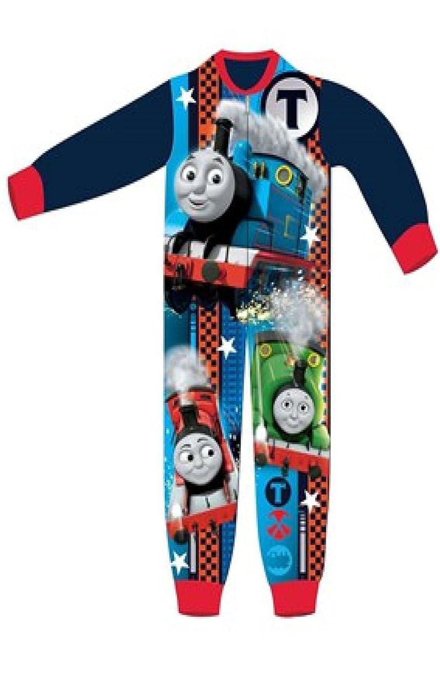 Boys Licensed Thomas The Tank Engine Micro Fleece Onesies Age 2 To 6 Years