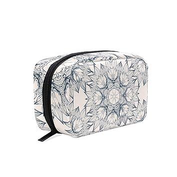 b26feeaaed3d Amazon.com : MAPOLO Retro Circles Flower Handy Cosmetic Pouch Clutch ...