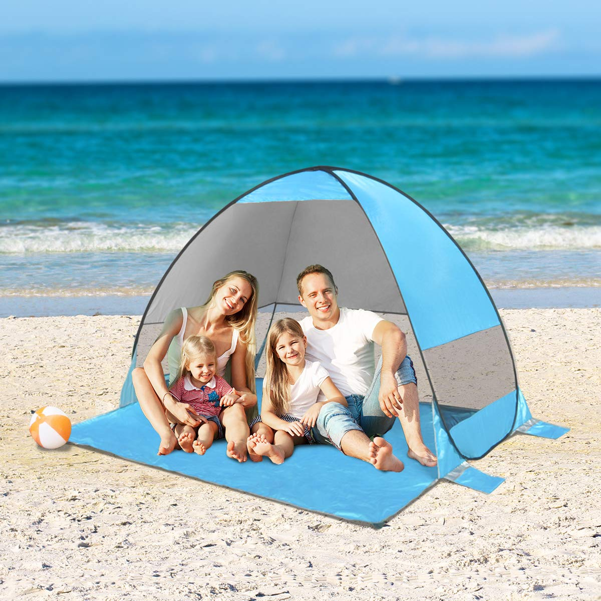 SLB Pop Up Zelt, Instant Automatische Pop Up Beach Zelt, blau