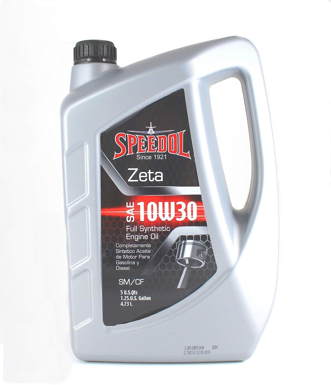 Amazon.com: Speedol Zeta 10W-30 Full Synthetic Motor Oil 5-Quarts (4.73 L) | Premium Quality High Performance Gasoline and Diesel Engine Oil: Automotive