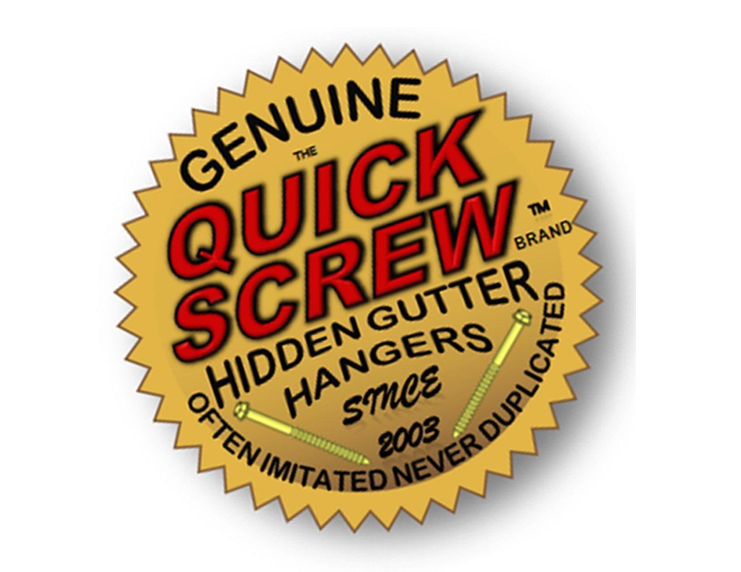 Quick Screw 5'' 50 Pack Premium Hidden Rain Gutter Bracket Hook Hangers with screw clip style by QuickScrew