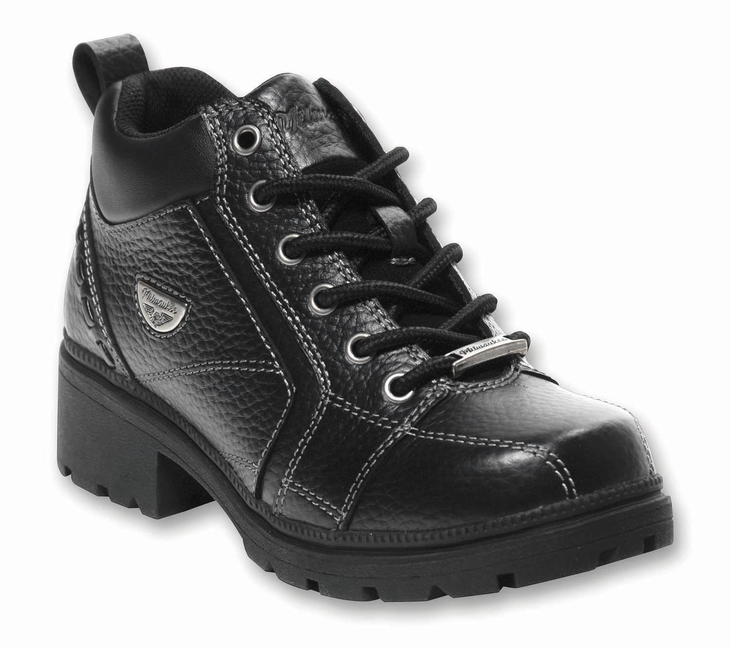 Milwaukee Motorcycle Clothing Company Womens Deceiver Boots (Black, Size 6B)