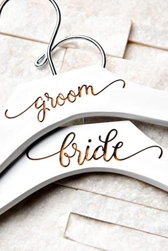 b66d3a15d3 Wedding Hanger Contour Curved   Personalized   Blonde, Walnut and White  Available   Free Shipping