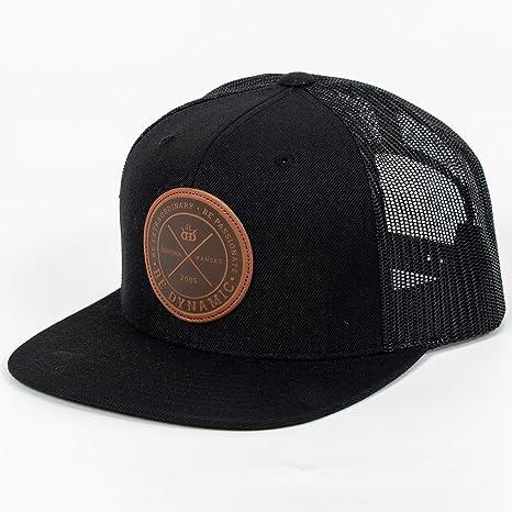 38df5f72e77 Dynamic Discs Foundation Leather Patch Snapback Mesh Disc Golf Hat - Black  w Black