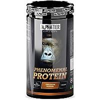 Protein Shake med aminosyror - Choklad 1300g - Proteinpulver med 83% protein - Alphatier Phenomenal Protein Powder…