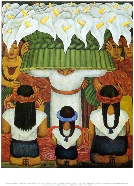 Diego Rivera Flower Festival Feast of Santa Anita 1931 Mexico Print Poster 11x14