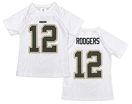 Image Unavailable. Image not available for. Color  Outerstuff NFL Girls  Youth Green Bay Packers Aaron Rodgers  12 Dazzle Jersey ae97a2f73