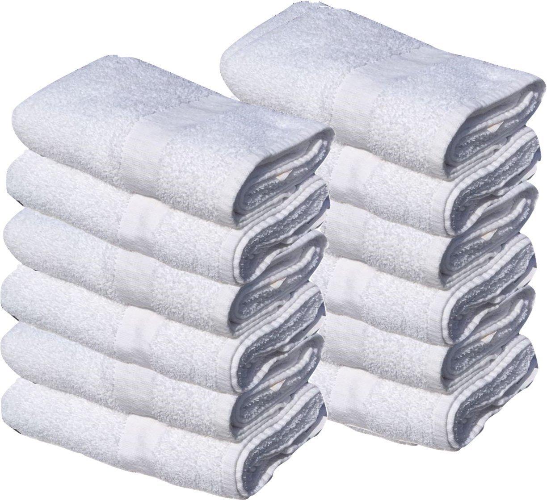 12 Pack new white Economy Bath Towel (24''x 50'') Ringspun Cotton for Maximum Softness Easy Care-Home,spa,resort,hotels/Motels use (1 Dozen) (12)