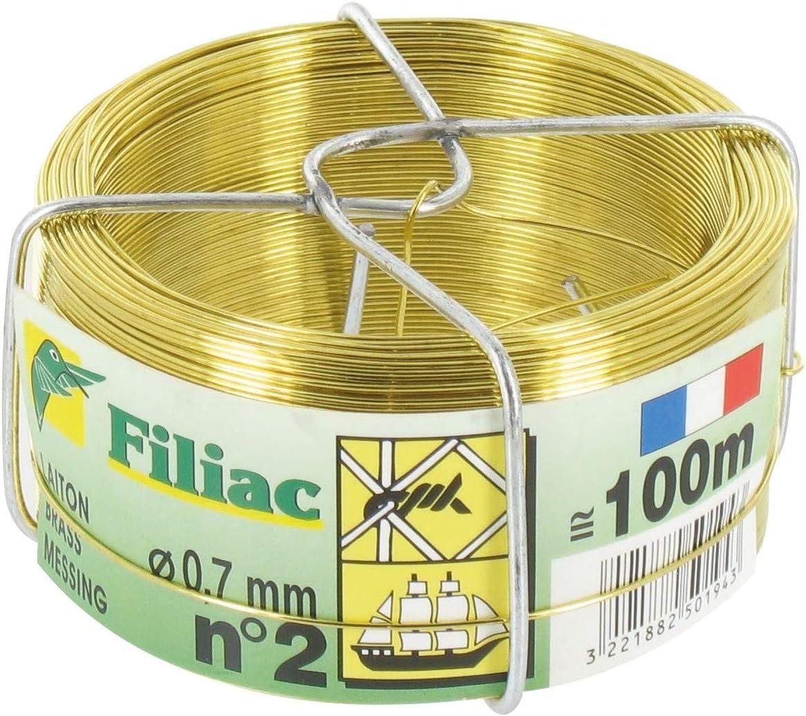 Fil laiton mou Filiac Longueur 50 m Diamètre 0,9 mm