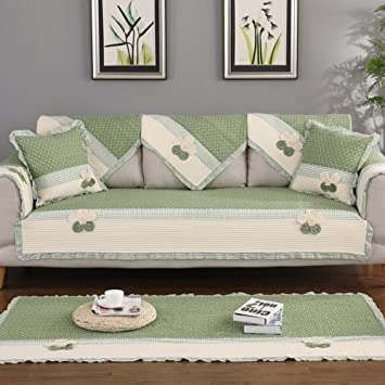 Nclon Algodón Funda para sofá Toalla de sofá Tela.Anti-Que ...