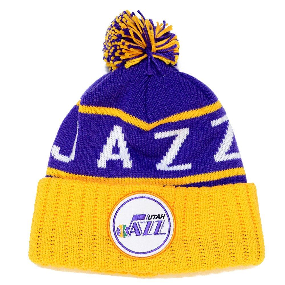 Utah Jazz Mitchell & Ness NBA ''The High 5'' Vintage Cuffed Knit Hat w/ Pom by Mitchell & Ness