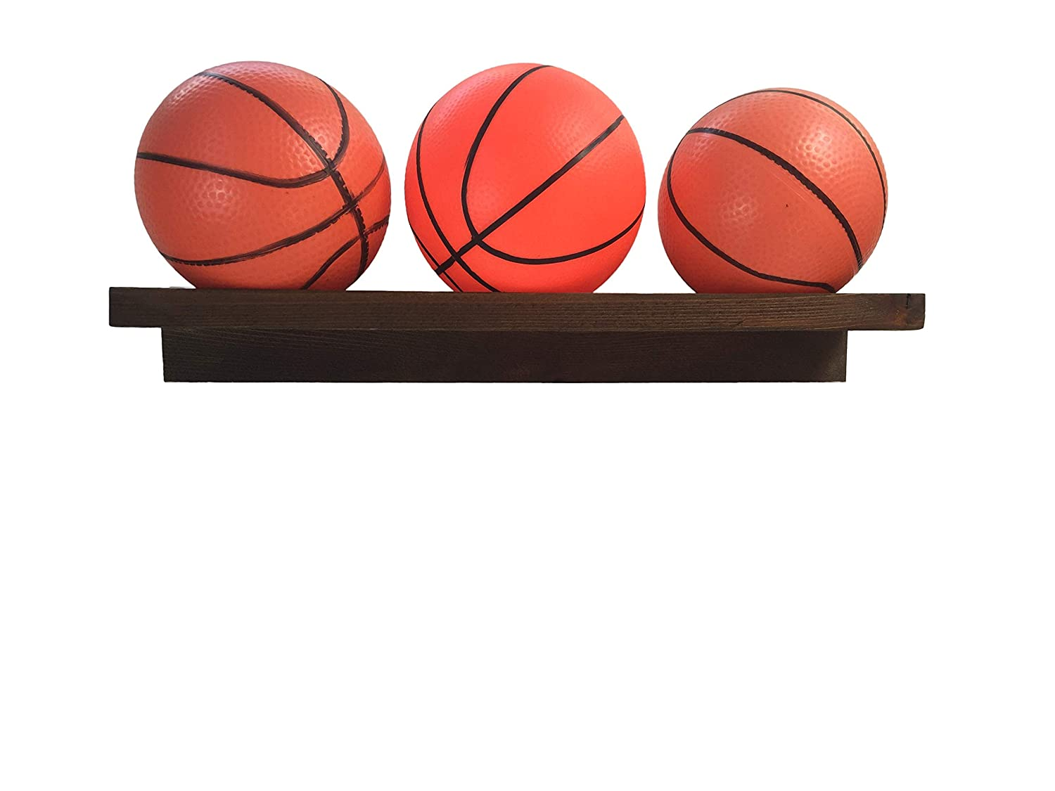 Mini Basketball Holder, Wall Mounted Wooden Mini Basketball Holder Display Wall Mounted Wooden Mini Basketball Holder Display (Dark Cedar) Planter Pro' s