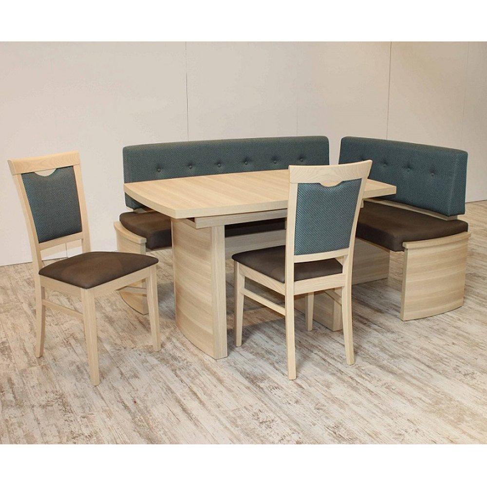 Eckbank Eckbankgruppe Essgruppe PRATO Essecke Tisch 2 Stühle Sonoma Eiche Dekor
