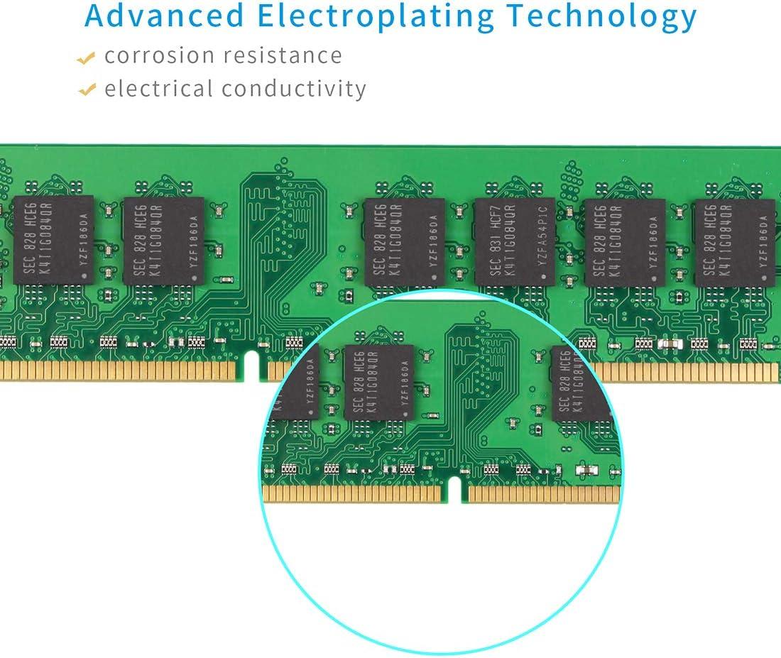 TECMIYO 4GB Kit(2X2GB) 2RX8 PC2-6400U DDR2 800MHZ DIMM PC2-6300 UDIMM CL5 1.8V 240 Pin 2RX8 Dual Rank Non-ECC Unbuffered Desktop RAM