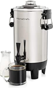 HomeCraft CU30SS Quick-Brewing 1000-Watt Automatic Coffee Urn, 30-Cup, Stainless Steel