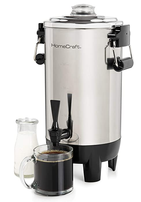 Nostalgia HomeCraft CU30SS Quick-Brewing 1000-Watt Automatic Coffee Urn, 30-Cup, Stainless Steel