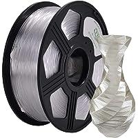 YOYI PETG 3D Printer Filament 1.75mm,1kg Spool (2.2lbs),Dimensional Accuracy +/- 0.03 mm,100% Virgin Raw Material,Eco-Friendly (Clear)