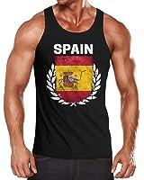 Herren Tanktop - Fußball EM 2016 Spain Spanien Flagge Vintage - Tank Top MoonWorks®