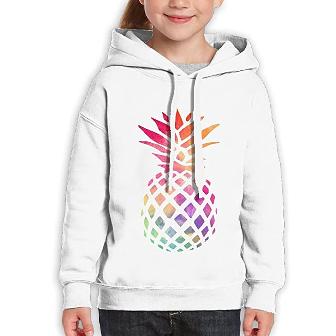 bf09d6262bb2c7 Amazon.com: Starcleveland Teenager Pullover Hoodie Sweatshirt Color  Pineapple Teen's Hooded Boys Girls: Clothing