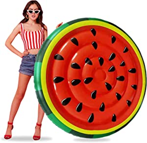 Huge HIT Summer - Watermelon Pool Float for Kids and Adult - Inflatable raft - use on Lake / Pool / Party / Decor