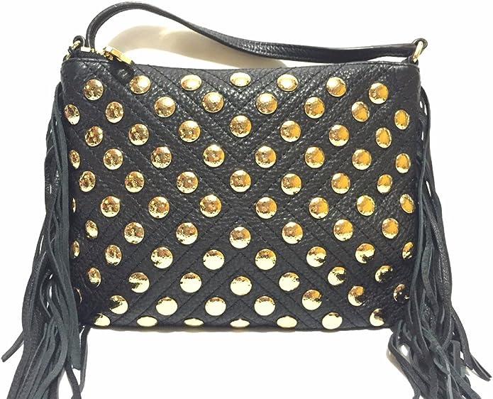 Stunning Rebecca Minkoff Women Leather Studded Shoulder Crossbody Hand Bag $395