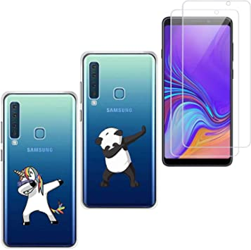 jrester 2 X Funda Samsung Galaxy A9 2018,Panda + Unicornio Suavee ...