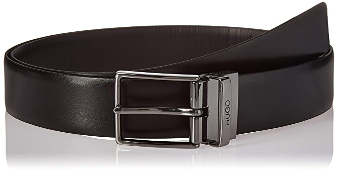 37c3b977c88 HUGO by Hugo Boss Men's Galvo Reversible Leather Belt, black, One Size